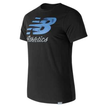 New Balance Flying Script Tee, Black