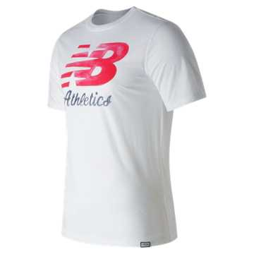 New Balance Flying Script Tee, White