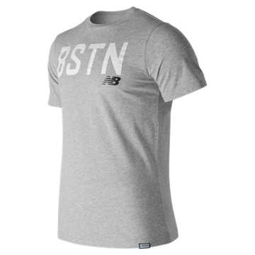New Balance Boston Graphic Tee, Athletic Grey
