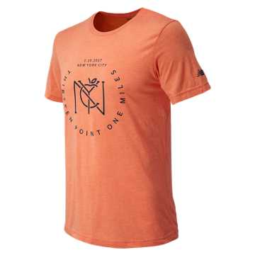 New Balance United NYC Half Big Apple Tee, Orange