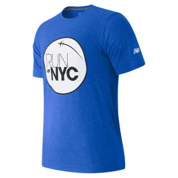 New Balance United NYC Half Fly Over Tee, Blue