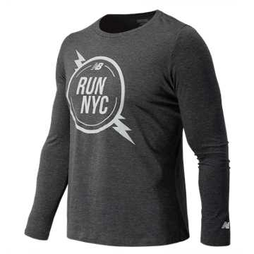 New Balance United NYC Half Bolt Tee, Black