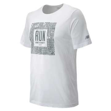 New Balance Brooklyn Half Grid Tee, White
