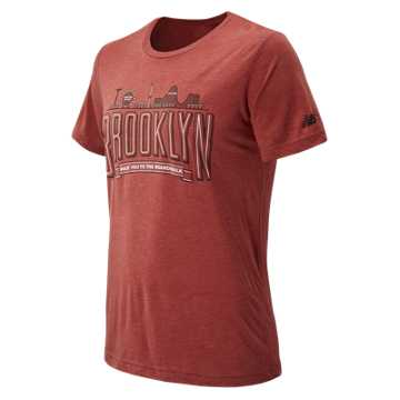 New Balance Brooklyn Half Coney IS Tee, Clay Red