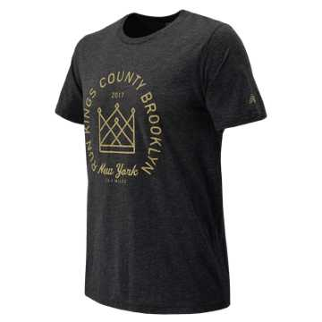 New Balance Brooklyn Half Kings County Tee, Black