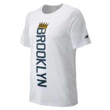 New Balance Brooklyn Half Linear Crown Tee, White