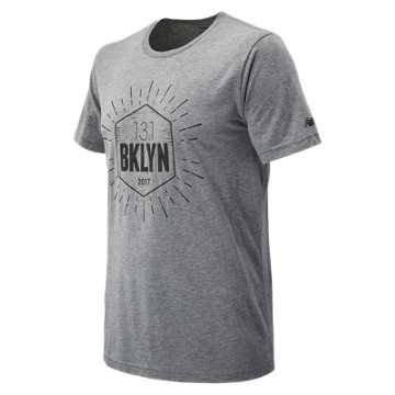 New Balance Brooklyn Half Run Tee, Grey