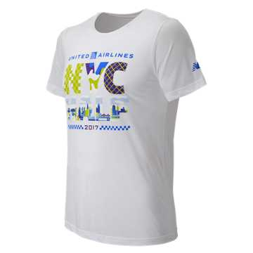 New Balance United NYC Half Finisher SS Tee, White