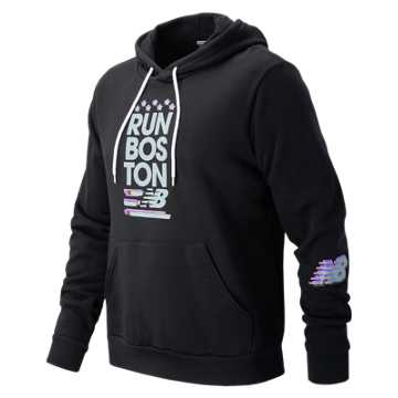 New Balance Run Boston Hoodie, Black