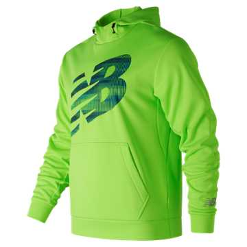 New Balance Game Changer Fleece Hoodie, Energy Lime