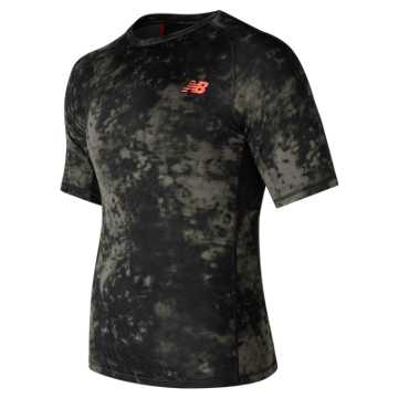 New Balance Aeronamic Printed Short Sleeve, Military Dark Triumph with Heat Zone Camo