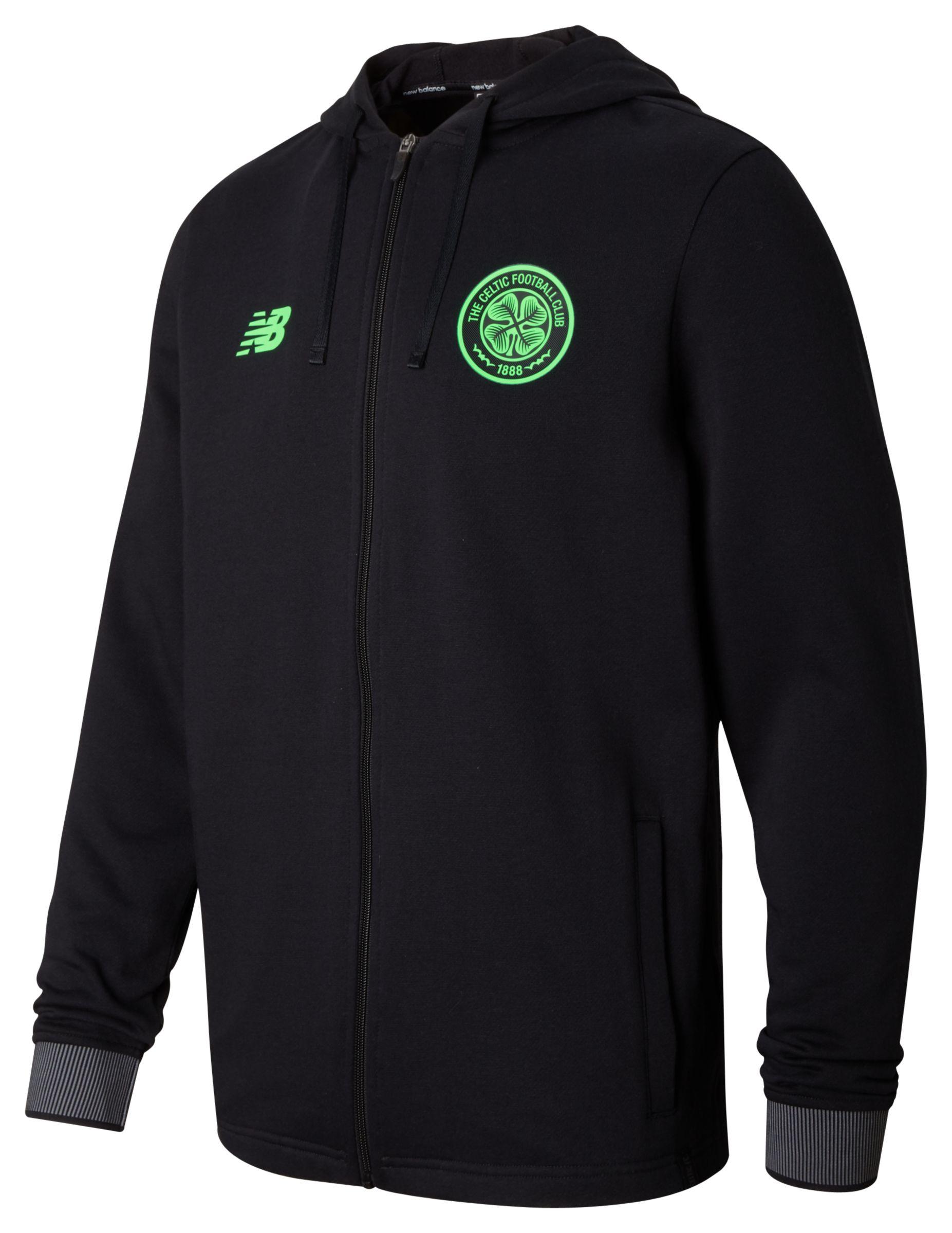 NB Celtic Mens Elite Travel Hoodie, Black