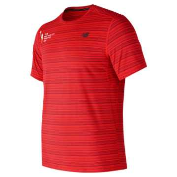 New Balance NYC Marathon Fantom Force Short Sleeve Top, Energy Red