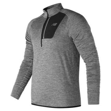 New Balance NB Heat Half Zip, Athletic Grey