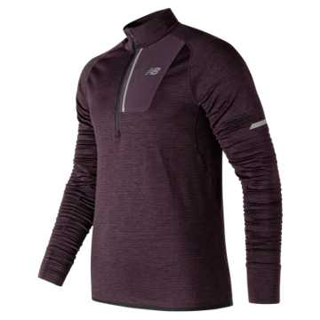 New Balance NB Heat Half Zip, Black Rose Heather