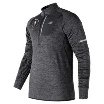 New Balance NYC Marathon NB Heat Half Zip, Heather Charcoal