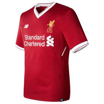 New Balance LFC Mens Wijnaldum Home SS EPL Patch Elite Jersey, Red Pepper