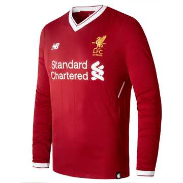 New Balance LFC Mens Home LS EPL Patch Jersey, Red Pepper