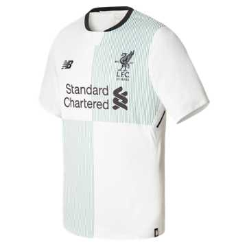 New Balance LFC Mens Firmino Away SS No Patch Jersey, White