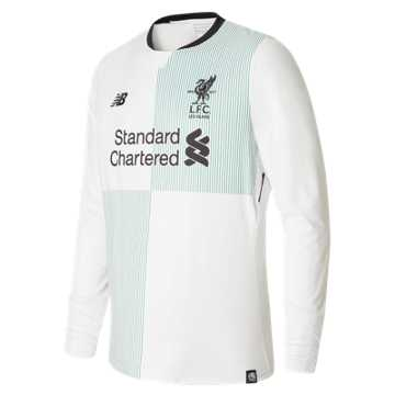 New Balance LFC Mens Wijnaldum Away LS EPL Patch Jersey, White