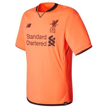 New Balance LFC Mens Lallana 3rd SS EPL Patch Jersey, Bold Citrus