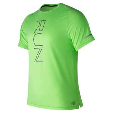 New Balance Seasonless Short Sleeve, Energy Lime Heather