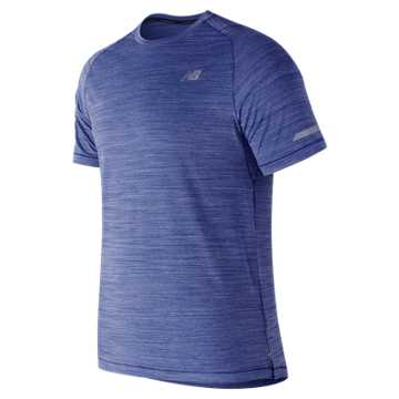 New Balance Seasonless Short Sleeve, Pacific Heather