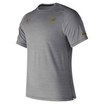 New Balance NYC Marathon Seasonless Short Sleeve, Athletic Grey