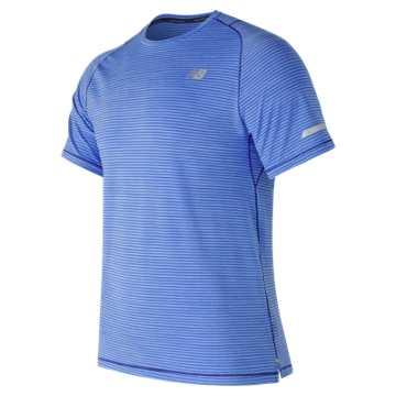 New Balance Seasonless Short Sleeve, Vivid Cobalt Blue Heather
