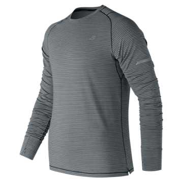 New Balance Seasonless Long Sleeve, Athletic Grey with Multi Color