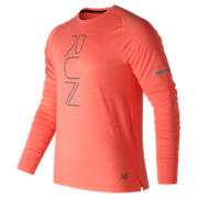 New Balance Seasonless Long Sleeve, Dynamite Heather