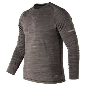New Balance Seasonless Long Sleeve, Military Dark Triumph Heather