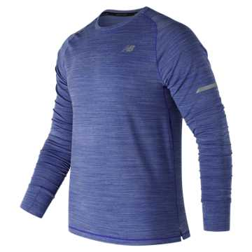 New Balance Seasonless Long Sleeve, Pacific Heather