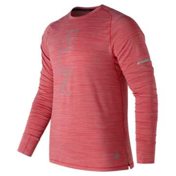 New Balance Seasonless Long Sleeve, Team Red Heather
