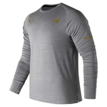 New Balance NYC Marathon Seasonless Long Sleeve, Athletic Grey