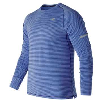 New Balance Seasonless Long Sleeve, Vivid Cobalt Blue Heather