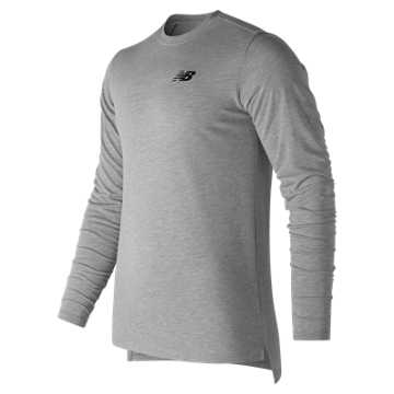 New Balance 247 Sport Long Sleeve Tee, Athletic Grey