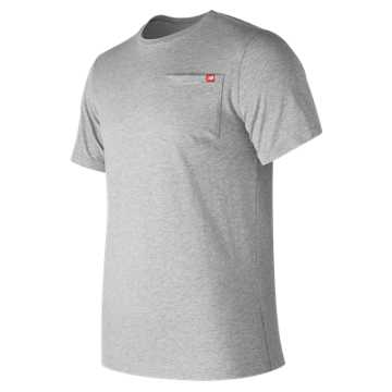 New Balance Essential Pocket Tee, Athletic Grey