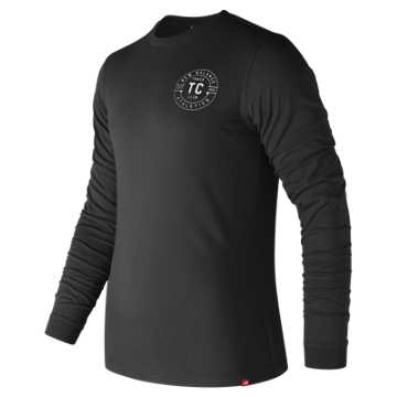 New Balance Track Club Long Sleeve Tee, Black