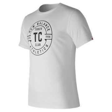 New Balance Track Club Emblem Tee, White