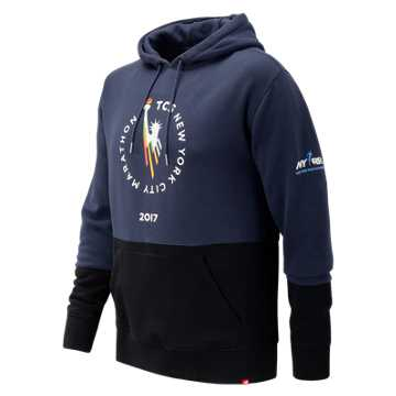New Balance NYC Marathon Essentials Pullover Hoodie, Dark Cyclone