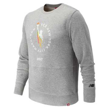 New Balance NYC Marathon Essentials Crew BL, Athletic Grey
