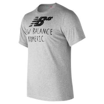 New Balance NB Numeric Hand Drawn Tee, Athletic Grey