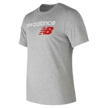 New Balance NB Athletics Main Logo Tee, Athletic Grey