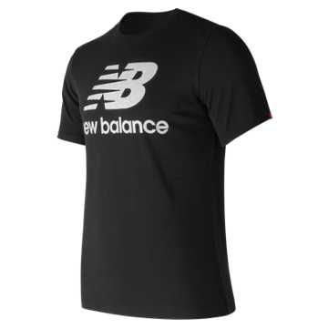 New Balance Essentials Filled Logo Tee, Black