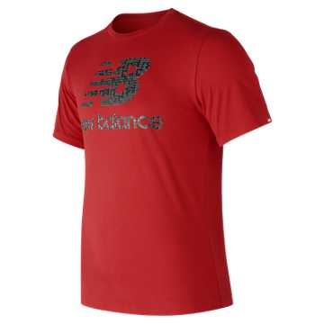 New Balance Essentials Filled Logo Tee, Team Red