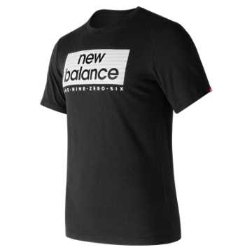 New Balance Essentials Boxer Tee, Black