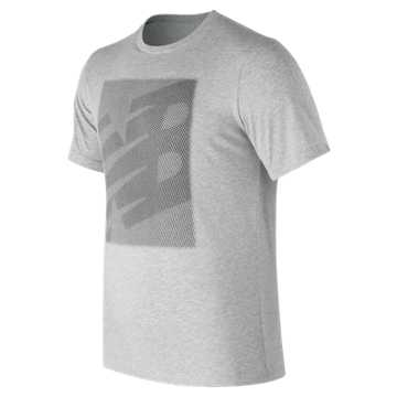 New Balance Essentials Matrix Tee, Athletic Grey