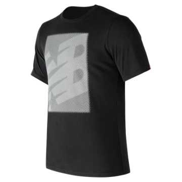 New Balance Essentials Matrix Tee, Black