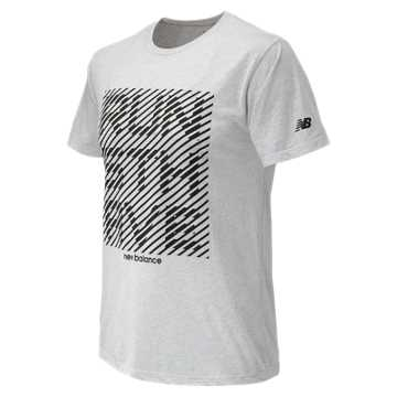 New Balance 5th Avenue Mile Graphic Tee, White